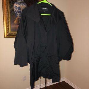 Lafayette148 Black zip cape